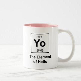 Yo! The Element of Hello Two-Tone Mug