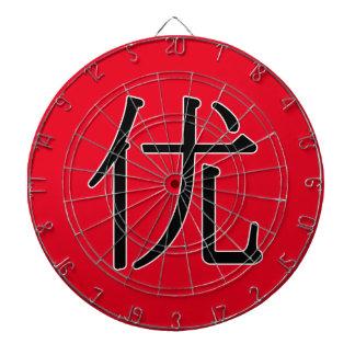 yōu - 优 (excellent) dartboards