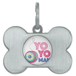 Yo Yo Man Pet ID Tag