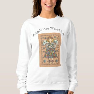 Yo Yo Quilt GUARDIAN ANGEL AND CAT SWEATSHIRT