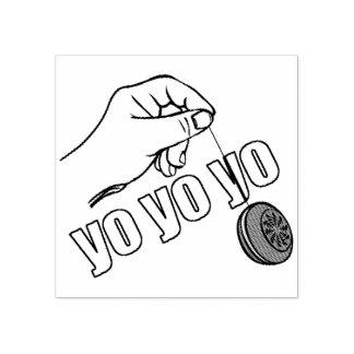 Yo Yo Yo Rubber Stamp