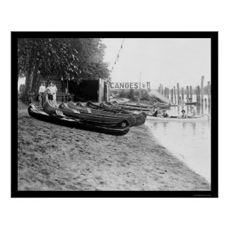 Yocum Canoe House in Arlington Beach, VA 1923 Poster