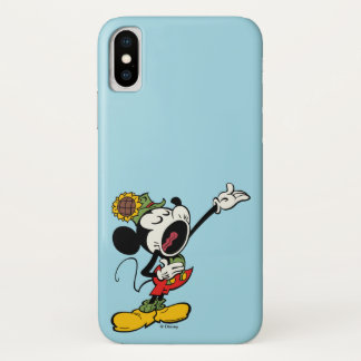 Yodelberg Mickey | Singing with Arm Up iPhone X Case