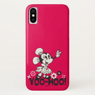 Yodelberg Minnie | Black and White Wave iPhone X Case