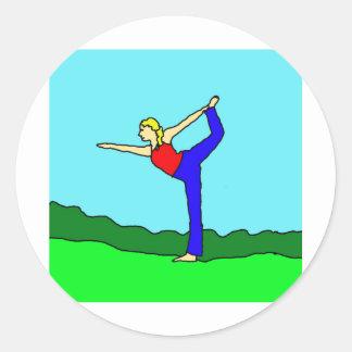 yoga1.jpg classic round sticker