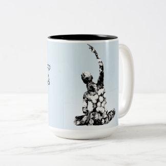 Yoga <3 Two-Tone coffee mug