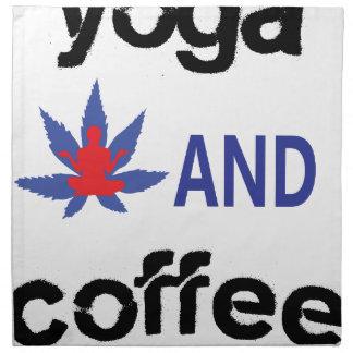 YOGA AND COFFEE NAPKIN