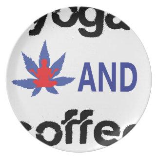 YOGA AND COFFEE PLATE