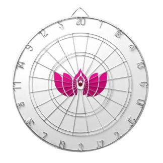 Yoga and meditation graphic dart boards