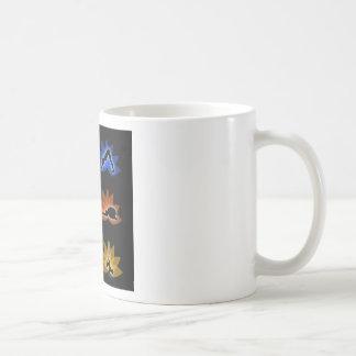 yoga and meditation symbols coffee mug