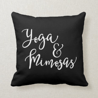 Yoga and Mimosas Pillow