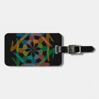 Yoga art bag tags