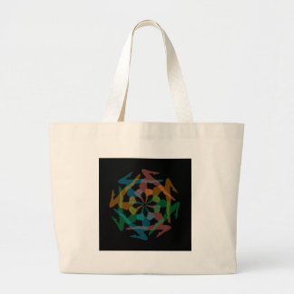 Yoga art jumbo tote bag