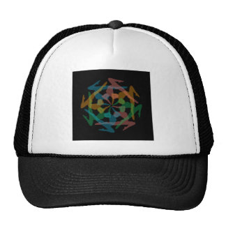 Yoga art trucker hat