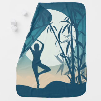 Yoga at Dawn Baby Blanket