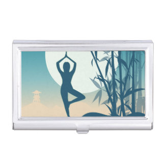 Yoga at Dawn Business Card Holder