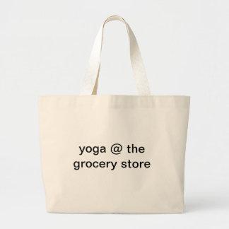 Yoga at Grocery Store Jumbo Tote Bag