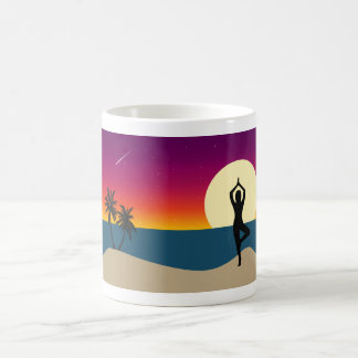 Yoga at Sunset Coffee Mug