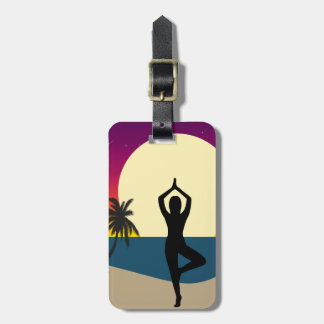 Yoga at Sunset Luggage Tag