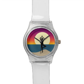 Yoga at Sunset Wristwatches