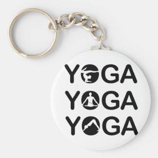 Yoga Basic Round Button Keychain