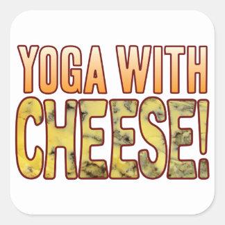 Yoga Blue Cheese Square Sticker