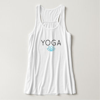Yoga Blue Simple Lotus Tank
