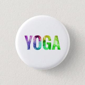 Yoga Bokeh Typography 1 Inch Round Button