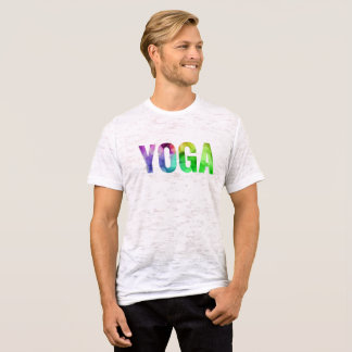 Yoga Bokeh Typography T-Shirt
