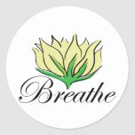 Yoga Breathe Round Stickers