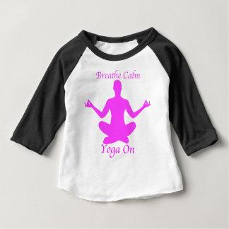 Yoga BreatheCalmYogaOn Baby T-Shirt