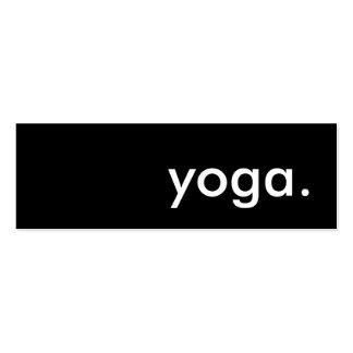 yoga. business card