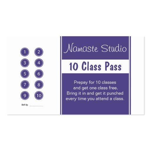 yoga business card 10 class pass template zazzle. Black Bedroom Furniture Sets. Home Design Ideas