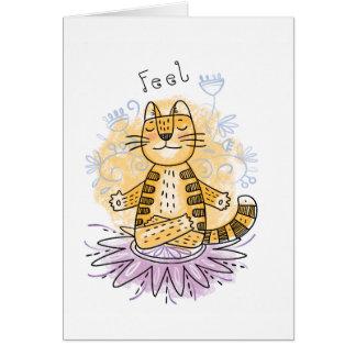 Yoga Cat Card
