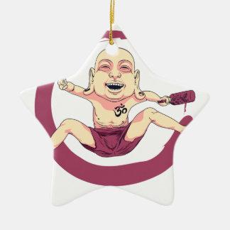 Yoga Ceramic Ornament