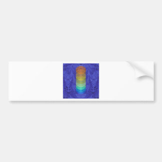 Yoga Chakra Tapestry Design Bumper Sticker