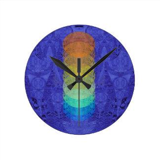 Yoga Chakra Tapestry Design Round Clock