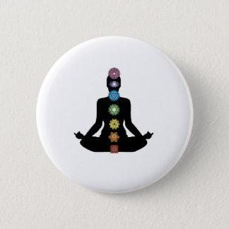 Yoga Chakras 2 Inch Round Button