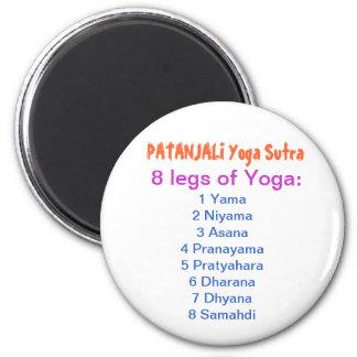 YOGA Checklist : 8 steps of PATANJALI SUTRA Magnet