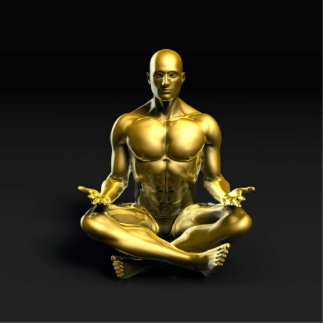 Yoga Class as a Form of Relaxation Photo Sculpture Button