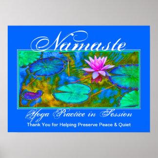 Yoga Class Please Keep Quiet Elegant Lotus Poster