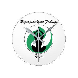 Yoga Clock Repurpose Feelings Design