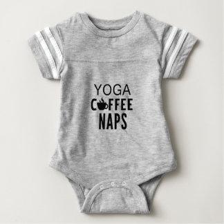 Yoga Coffee Naps Baby Bodysuit