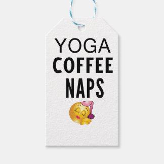 Yoga Coffee Naps Gift Tags
