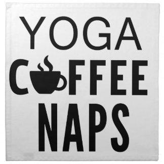 Yoga Coffee Naps Napkin