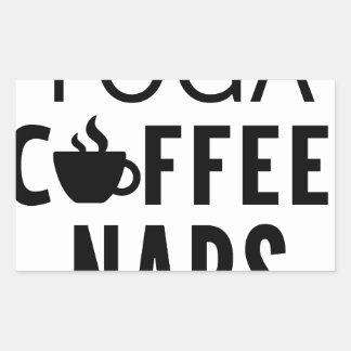 Yoga Coffee Naps Sticker