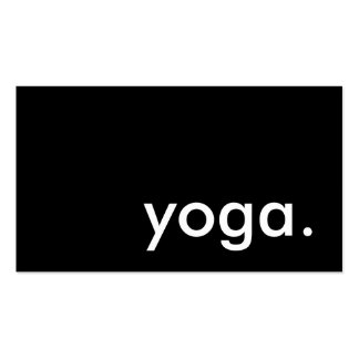 yoga. (color customizable) business card