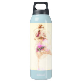 Yoga Concept Illustration Abstract as a Concept Insulated Water Bottle
