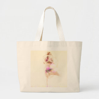 Yoga Concept Illustration Abstract as a Concept Large Tote Bag