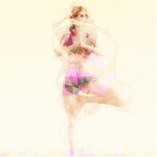 Yoga Concept Illustration Abstract as a Concept Photo Sculpture Button